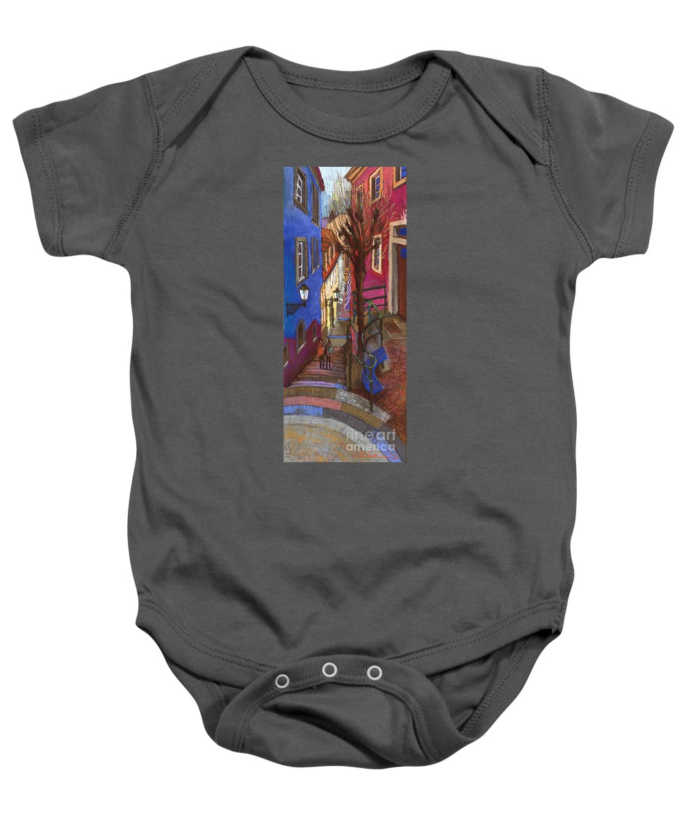 Pastel Baby Onesie featuring the painting Germany Baden-baden 08 by Yuriy Shevchuk