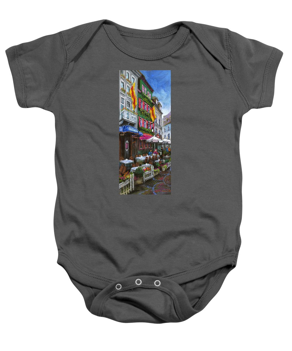 Pastel Baby Onesie featuring the painting Germany Baden-baden 10 by Yuriy Shevchuk