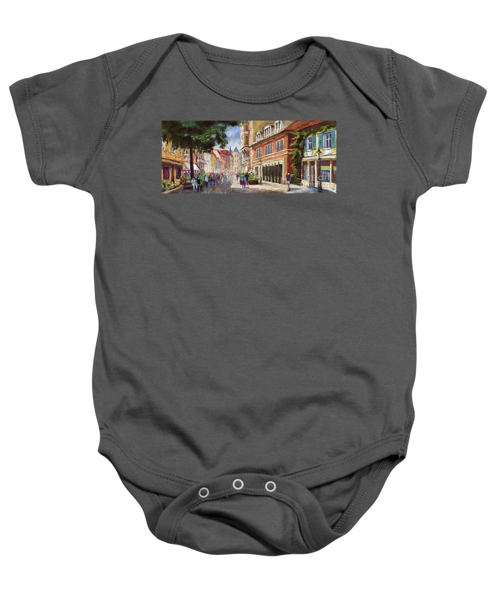 Pastel Baby Onesie featuring the painting Germany Baden-baden Lange Str by Yuriy Shevchuk