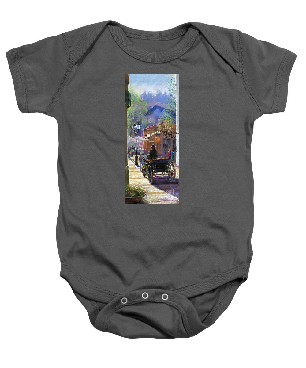 Pastel Baby Onesie featuring the painting Germany Baden-baden Spring Ray by Yuriy Shevchuk
