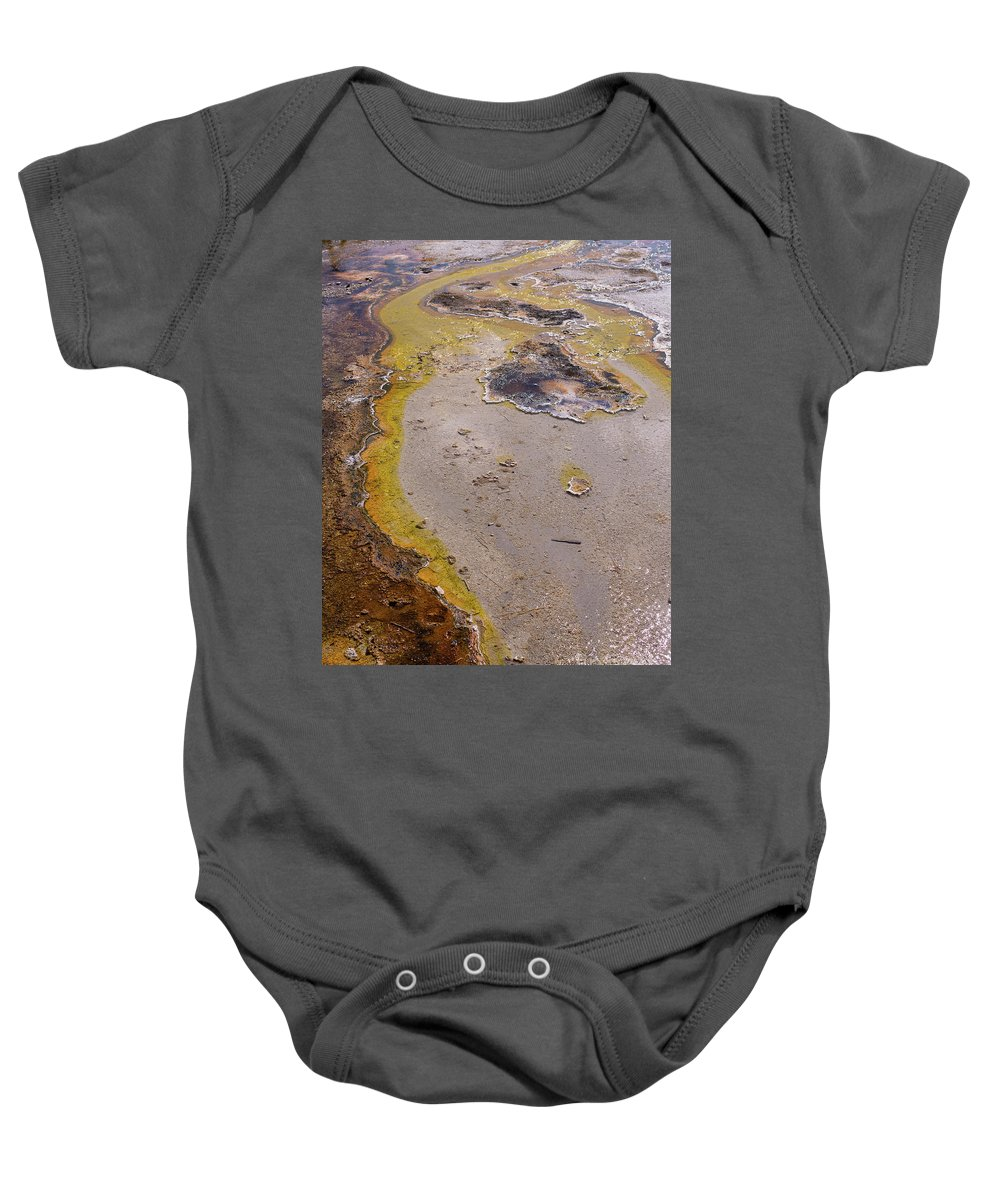 Wyoming Baby Onesie featuring the photograph Geyser Basin Springs 4 by Tracy Knauer