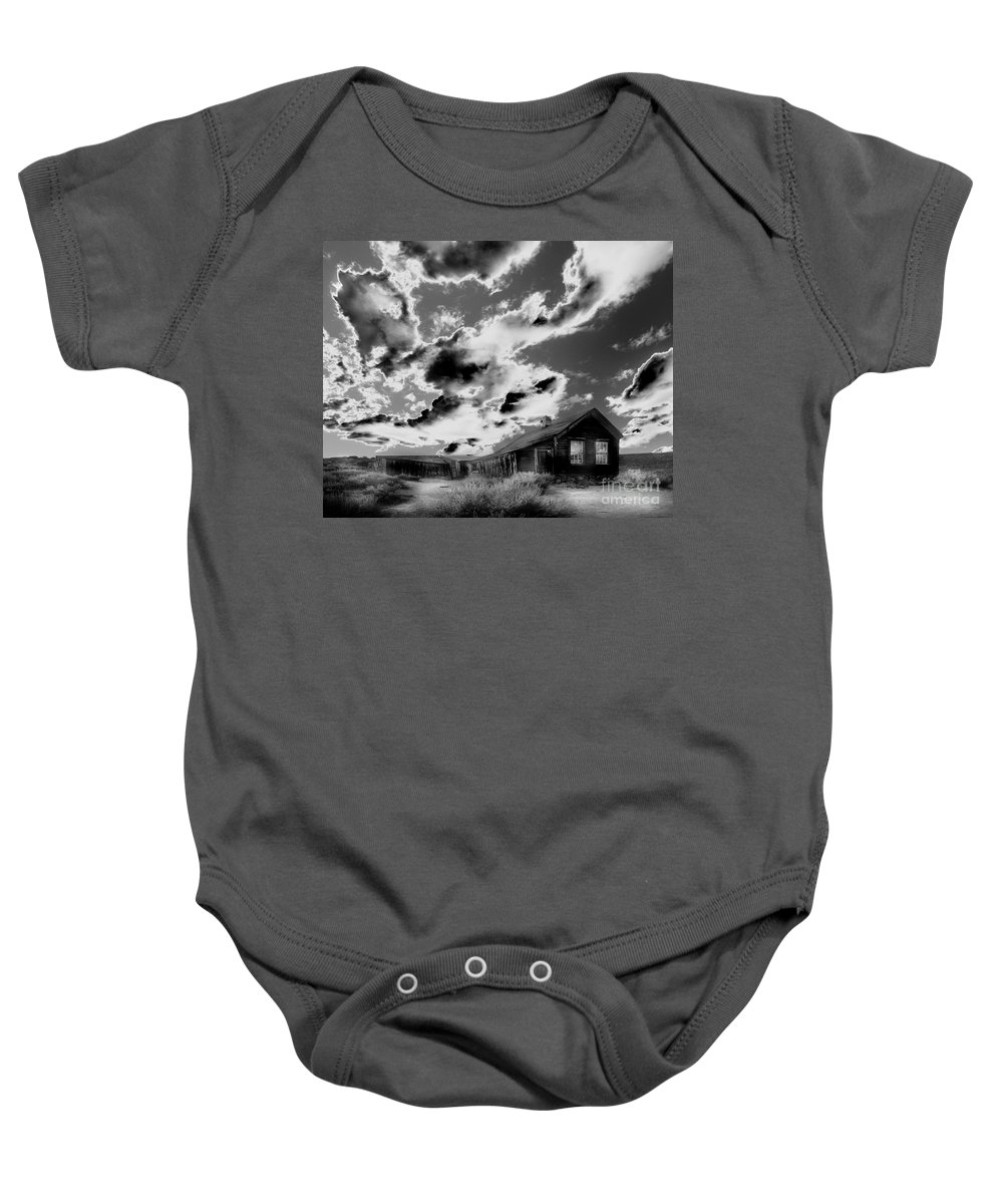Black Baby Onesie featuring the photograph Ghost House by Jim And Emily Bush