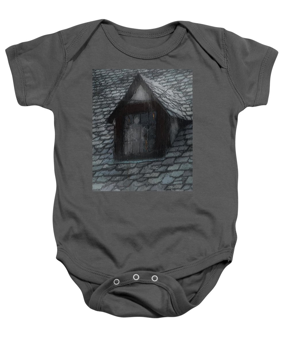 Ghost Baby Onesie featuring the painting Ghost Rain by RC deWinter