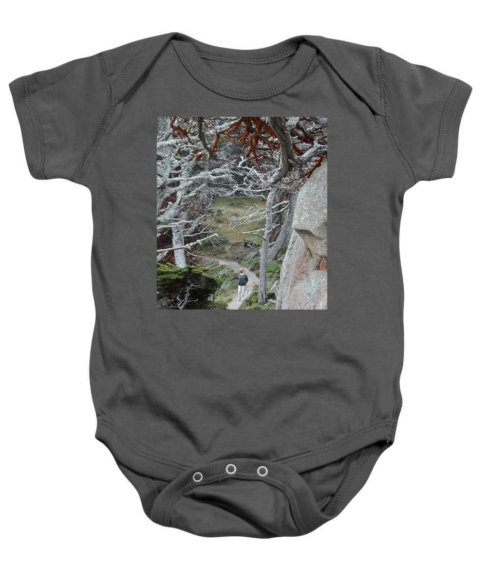 Lichens Baby Onesie featuring the photograph Ghost Trees by Douglas Barnett