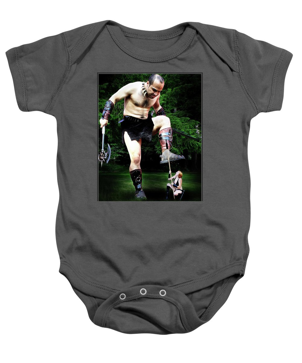 Giant Baby Onesie featuring the photograph Giant Vs Amazon by Jon Volden