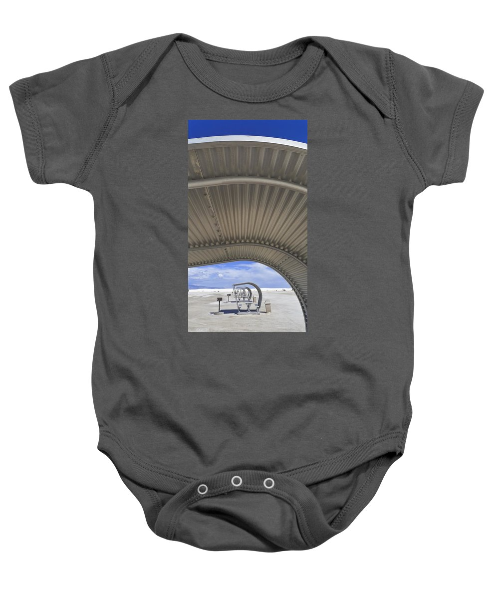 Gimme Shelter Baby Onesie featuring the photograph Gimme Shelter by Skip Hunt