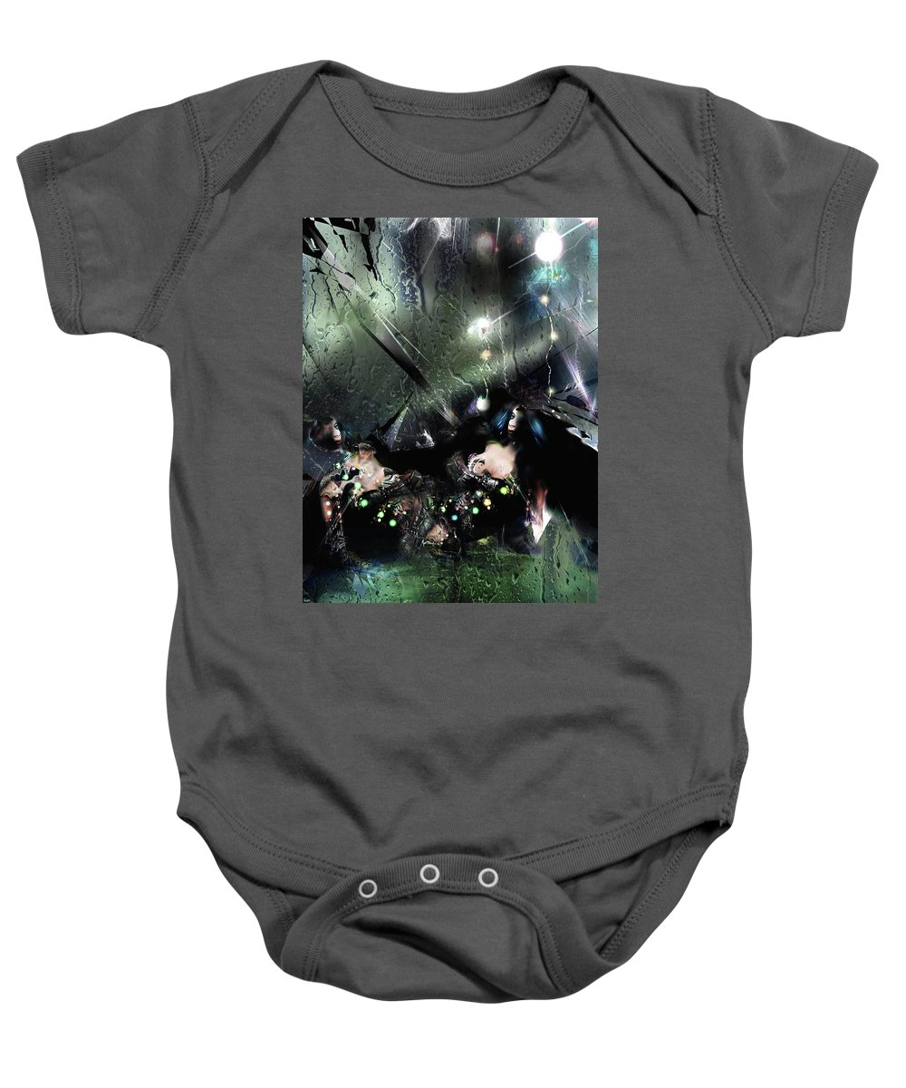Ice Baby Onesie featuring the digital art Glaciation by Grant Wilson