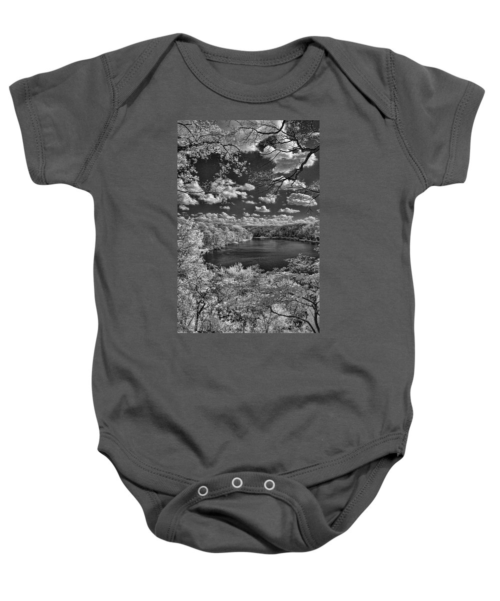 Infrared Baby Onesie featuring the photograph Glacier Lake by Michael McGowan