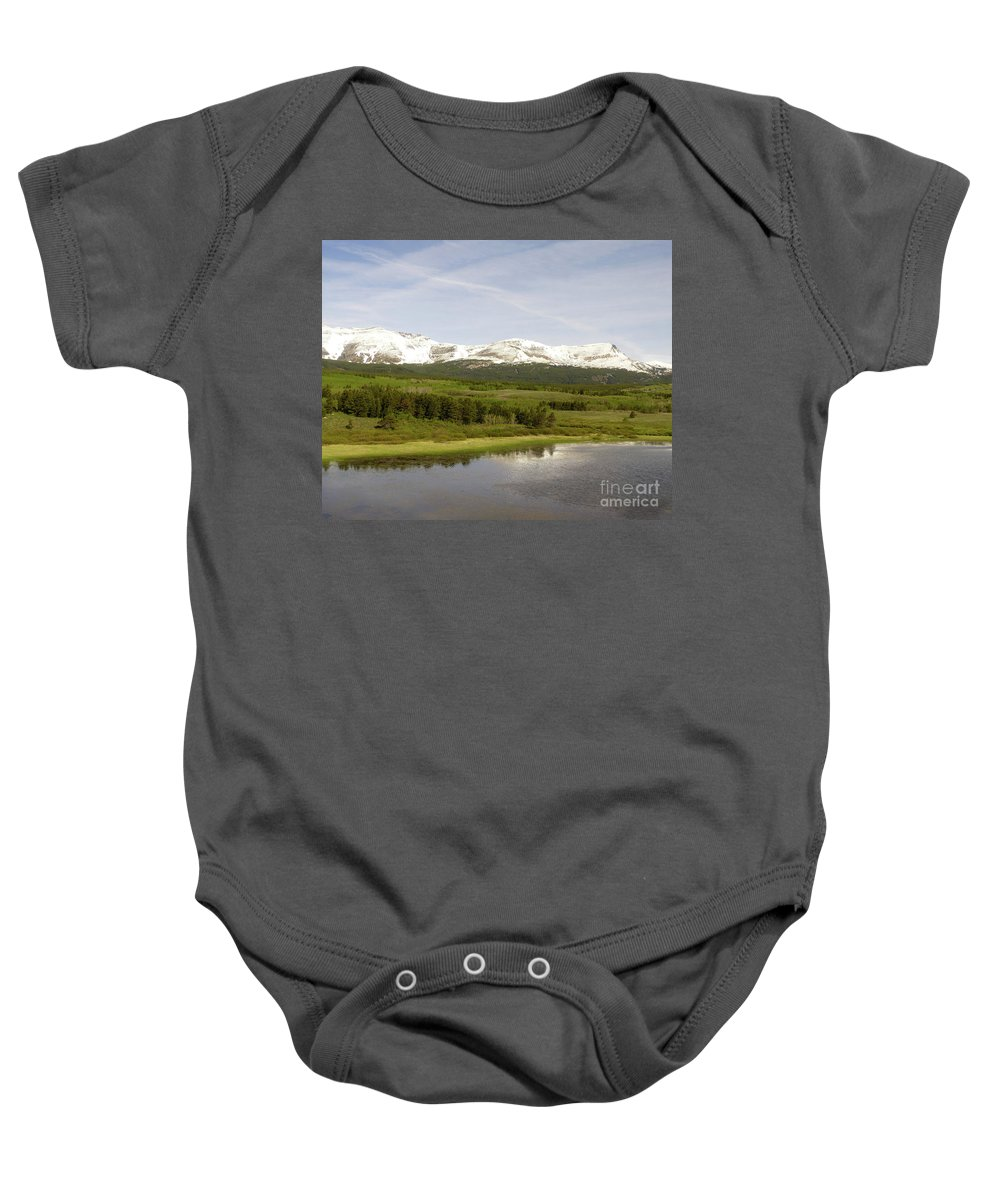 Montana Baby Onesie featuring the photograph Glacier National Park Scenic by Paula Joy Welter