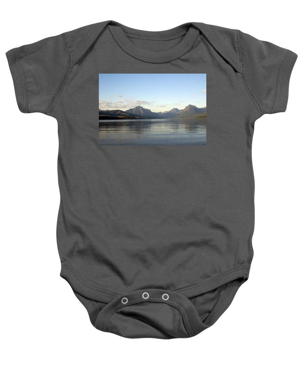 Baby Onesie featuring the photograph Glacier Reflections 3 by Marty Koch