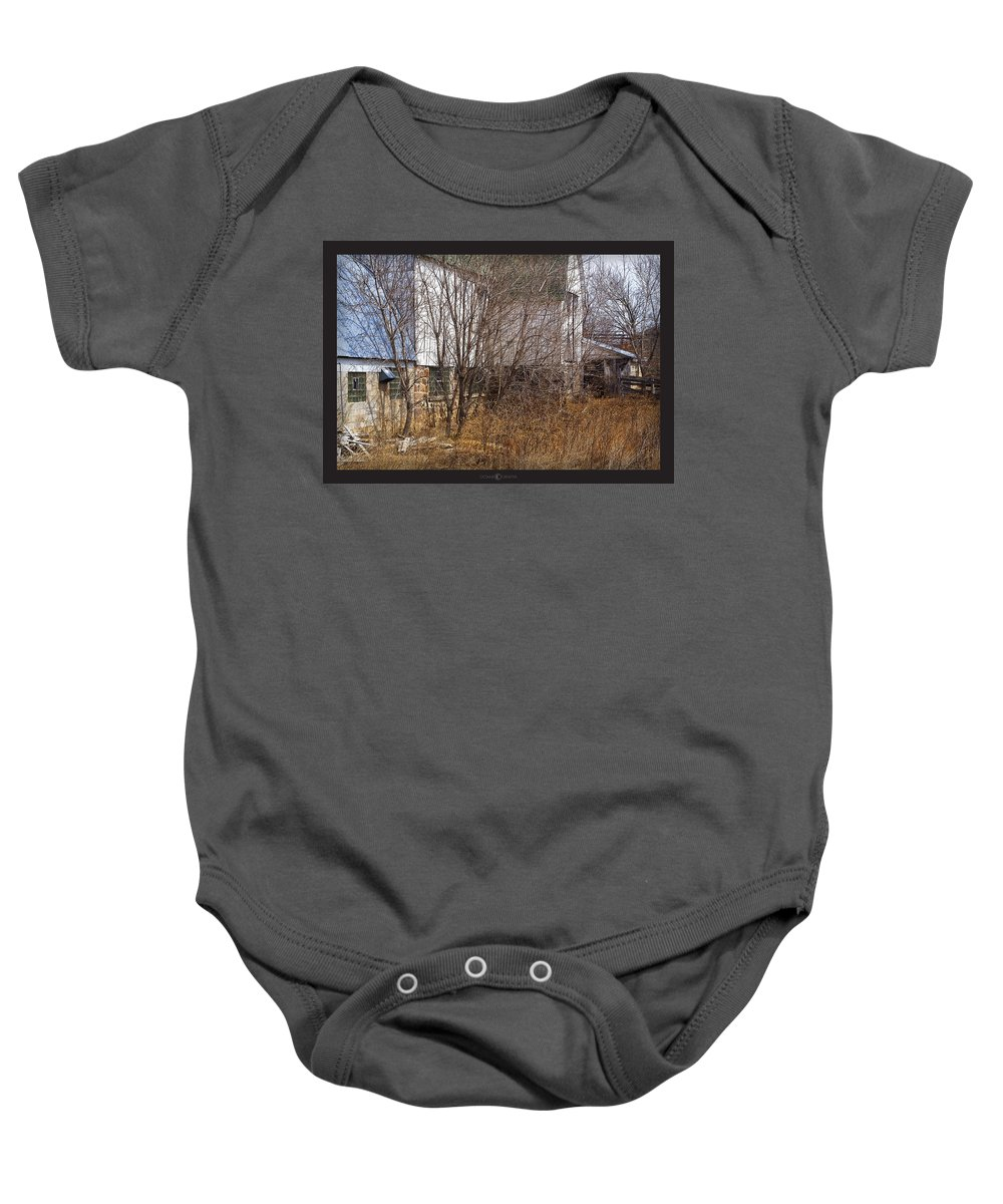 Barn Baby Onesie featuring the photograph Glass Block by Tim Nyberg