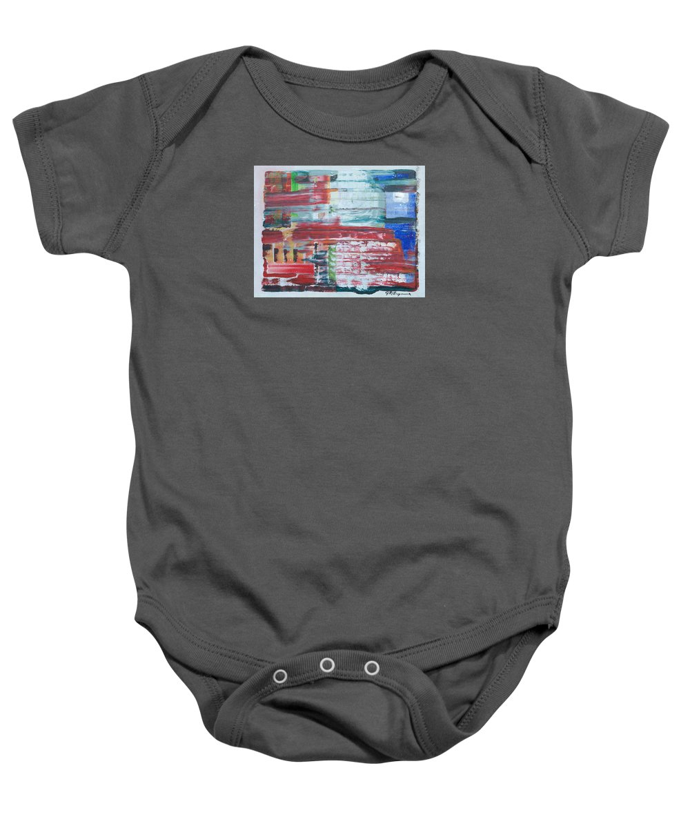 Impressionism Baby Onesie featuring the painting In A New York Minute by J R Seymour