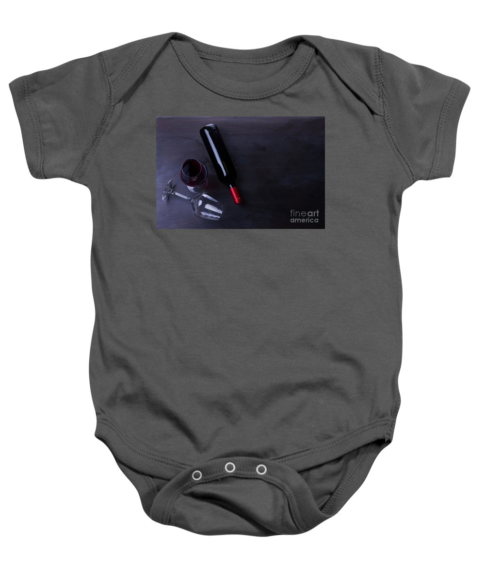 Wine Baby Onesie featuring the photograph Red Wine Set by Anastasy Yarmolovich