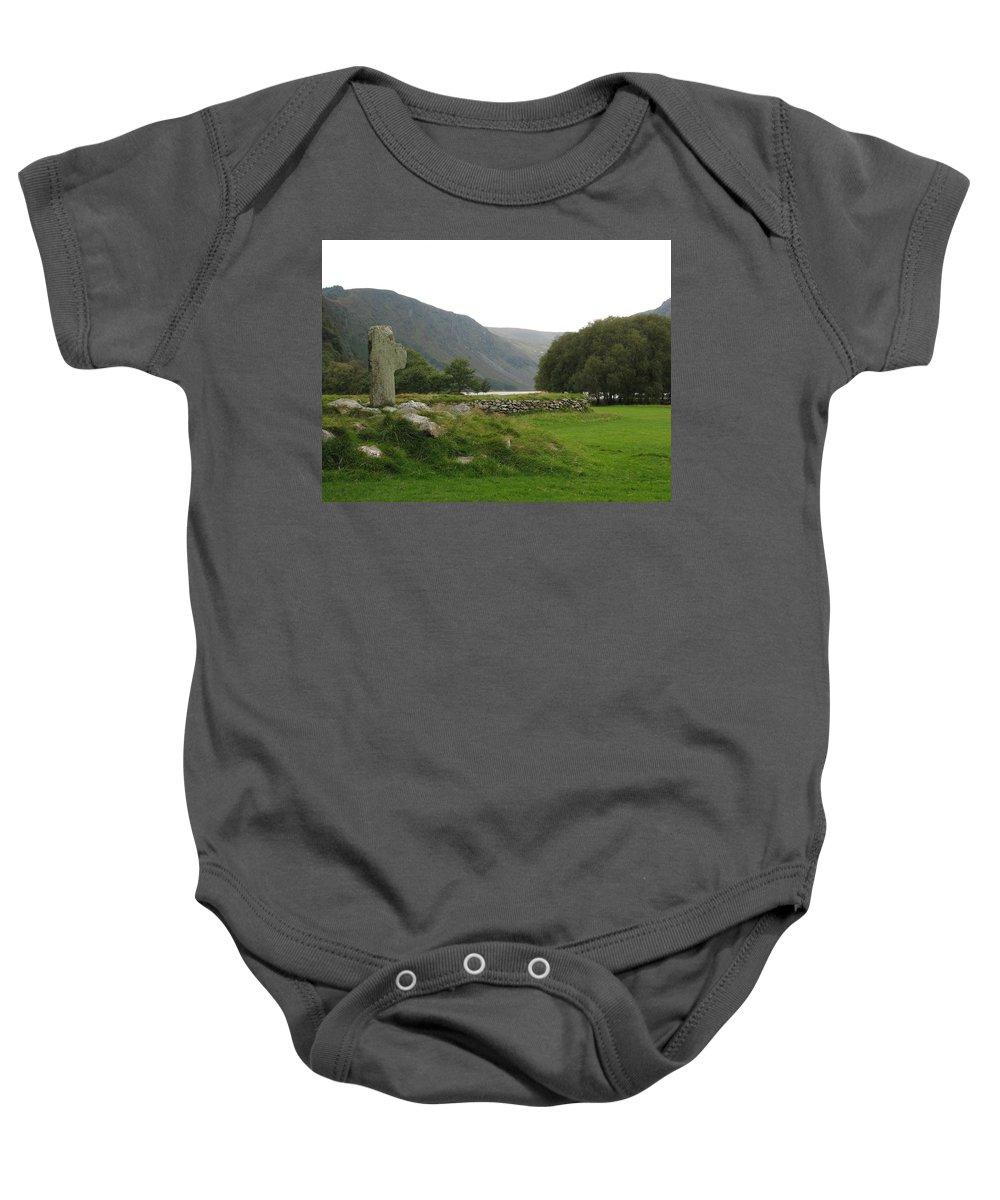 Glendalough Baby Onesie featuring the photograph Glendalough by Kelly Mezzapelle