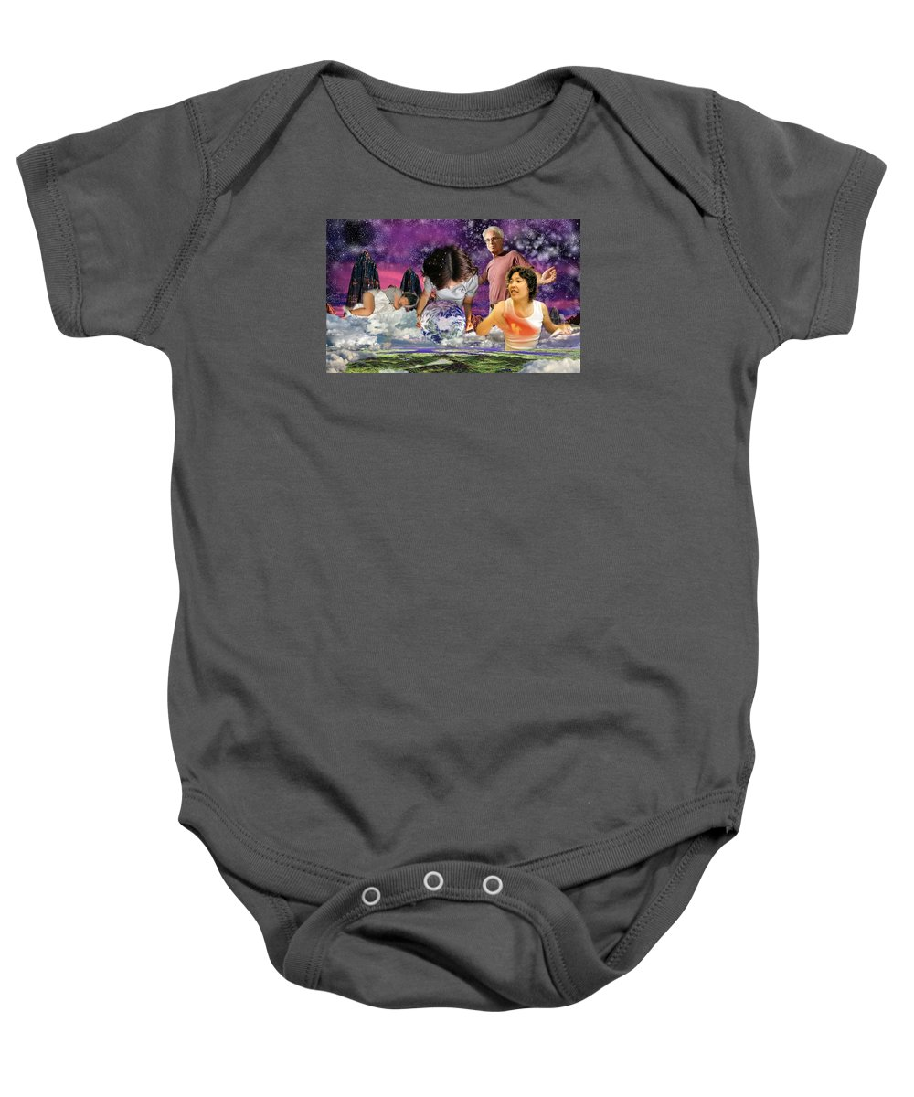 Landscape Baby Onesie featuring the digital art Global Dreaming by Dave Martsolf