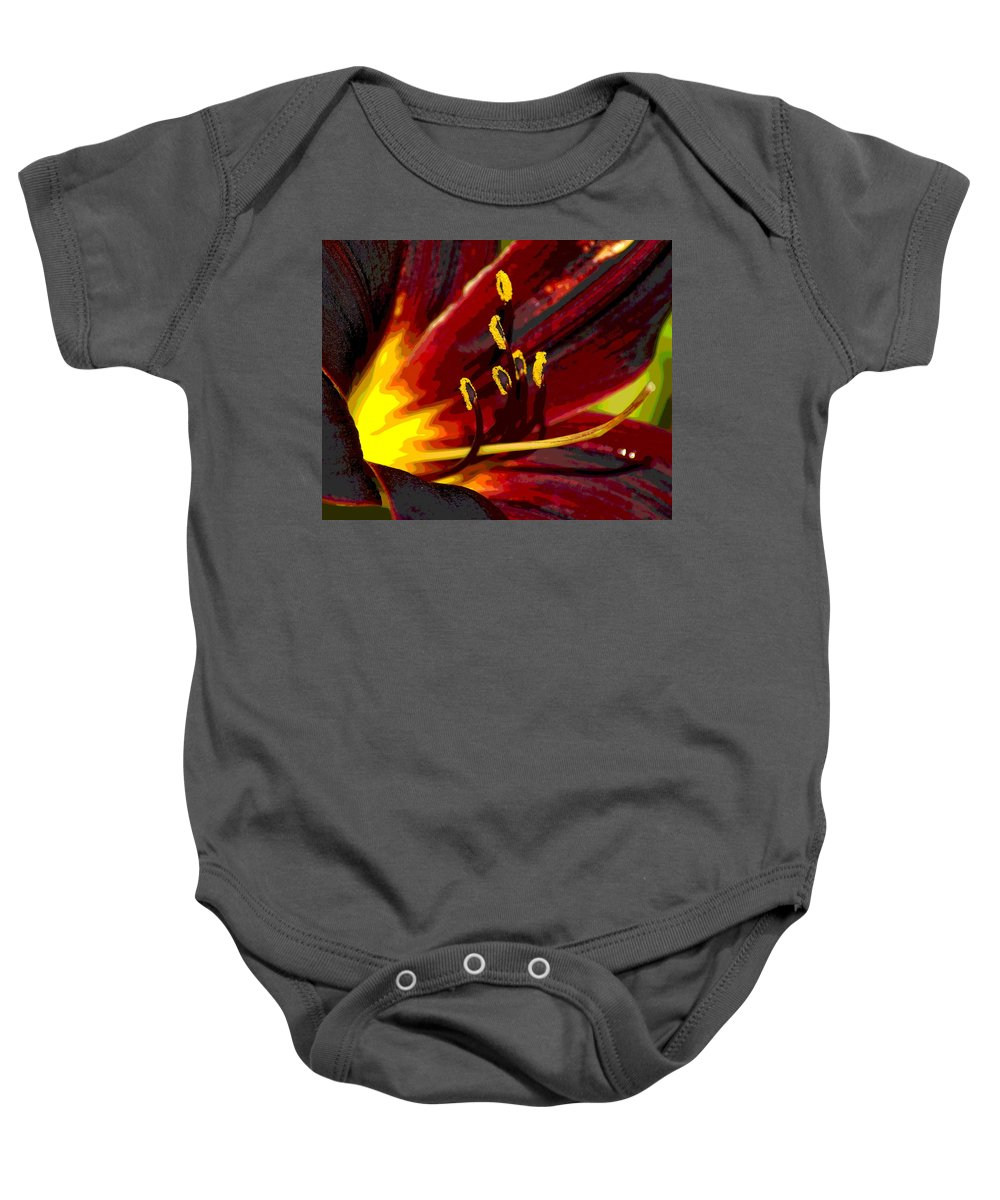 Photo Art Baby Onesie featuring the photograph Glowing Flower Power by Ben Upham III