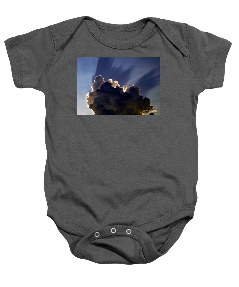 God Baby Onesie featuring the painting God Speaking by David Lee Thompson