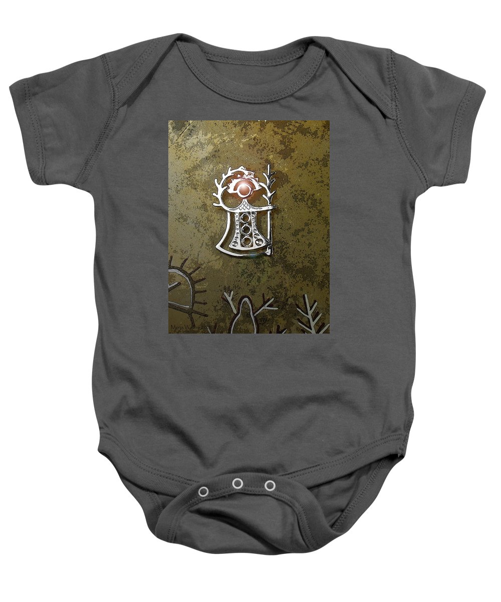 Goddess Baby Onesie featuring the digital art Goddess Of Fertility by Merja Waters