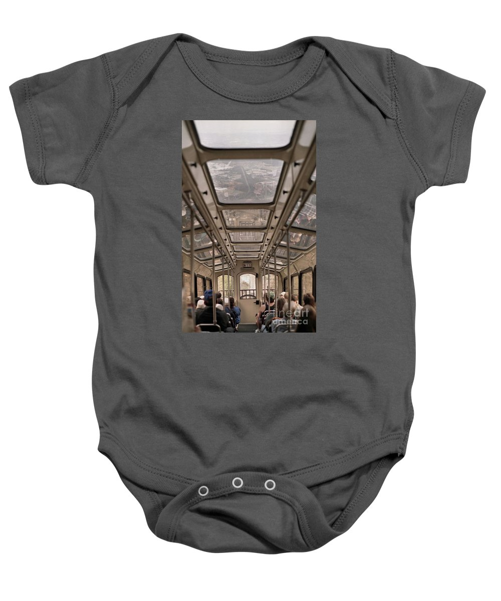Cable Car Baby Onesie featuring the photograph Going Down by Richard Rizzo