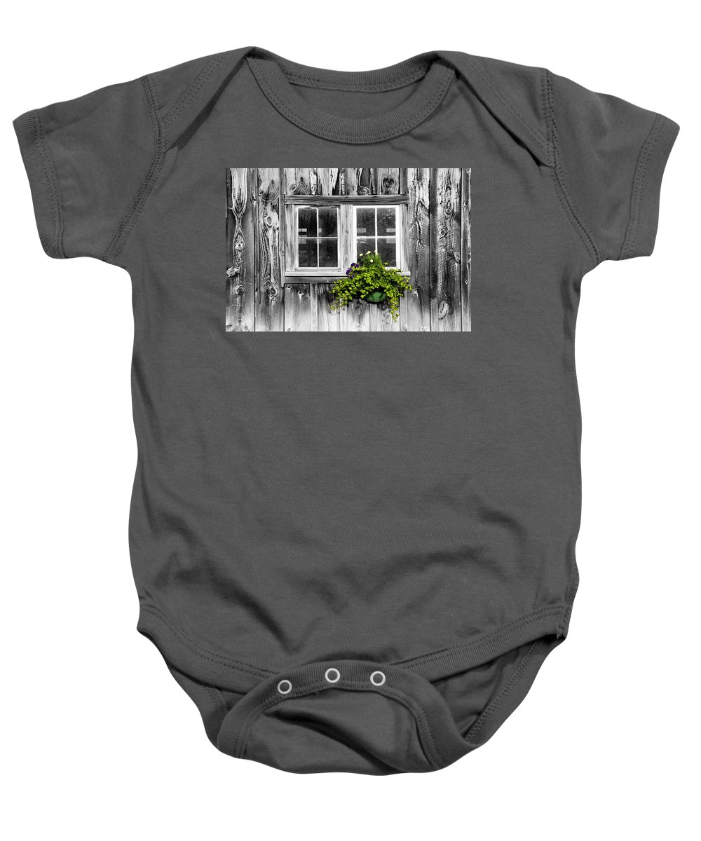 Flowers Baby Onesie featuring the photograph Going Green by Greg Fortier