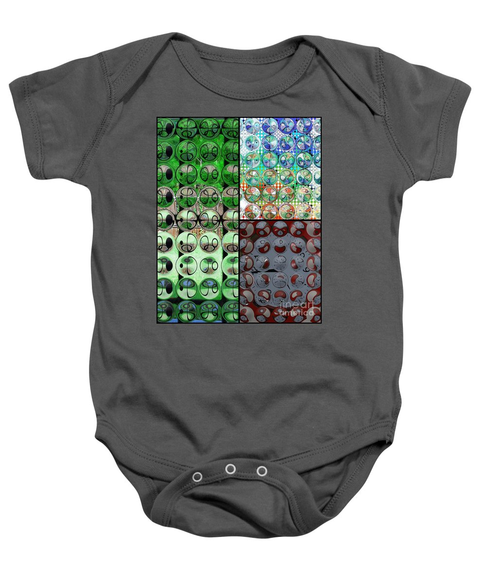 Circles Baby Onesie featuring the photograph Going In Circles by Donna Bentley