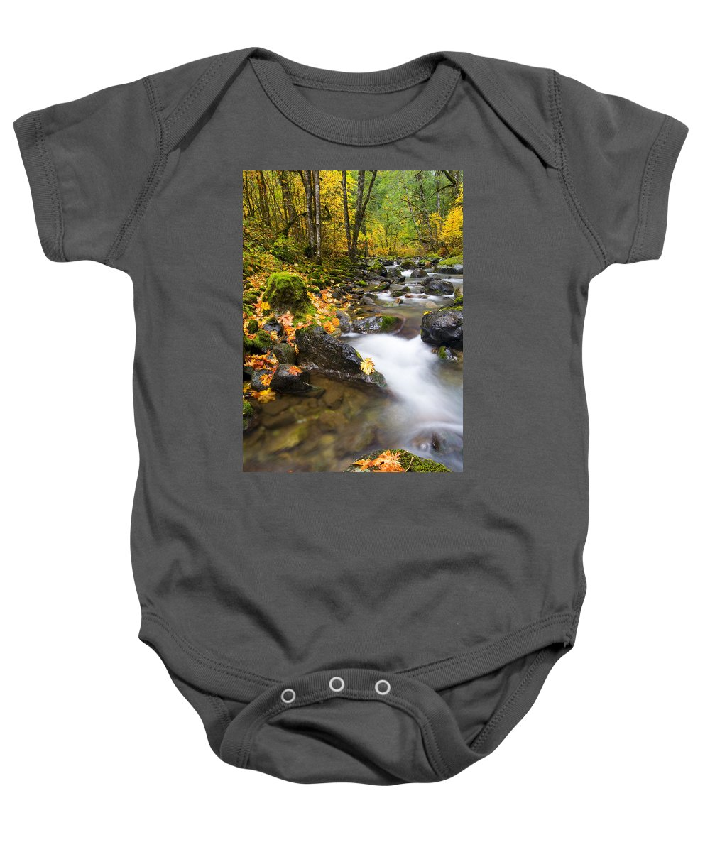 Fall Baby Onesie featuring the photograph Golden Grove by Mike Dawson