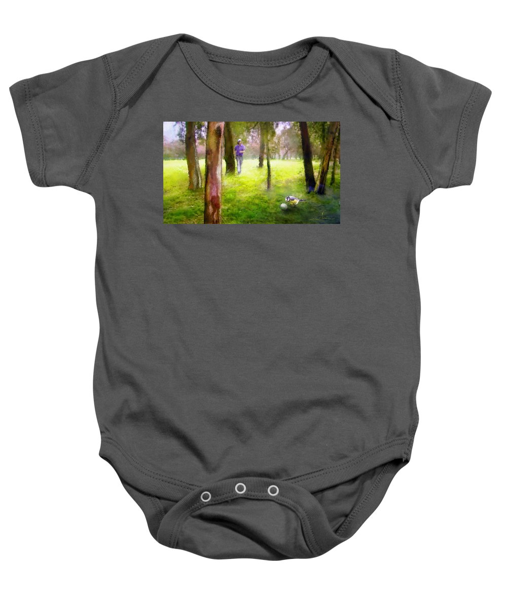 Golf Baby Onesie featuring the painting Golf Trophee Hassan II In Royal Golf Dar Es Salam Morocco 02 by Miki De Goodaboom