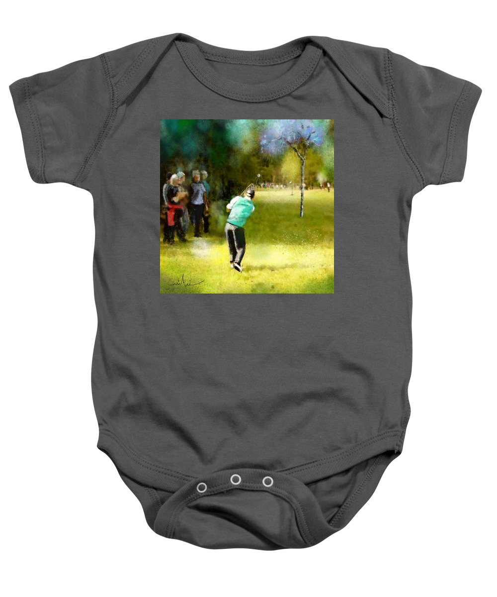 Golf Baby Onesie featuring the painting Golf Vivendi Trophy In France 02 by Miki De Goodaboom