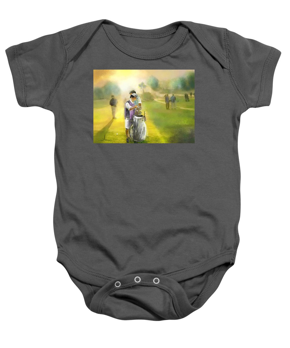 Golf Baby Onesie featuring the painting Golf Vivendi Trophy In France 03 by Miki De Goodaboom