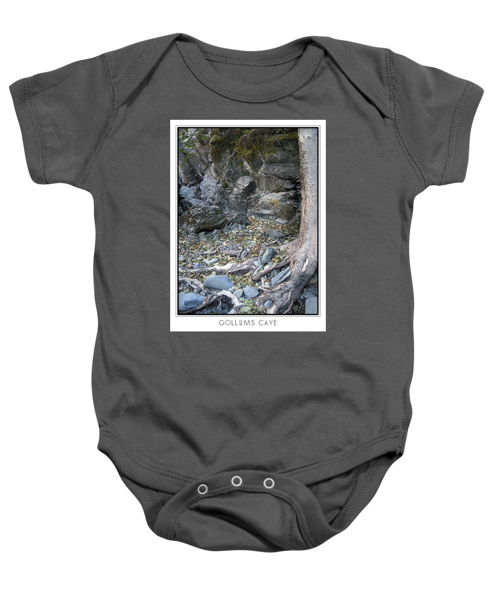 Trees Baby Onesie featuring the photograph Gollum's Cave by Karen W Meyer