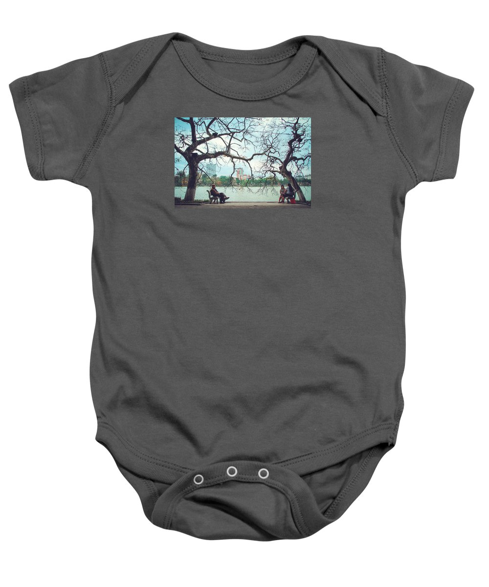 Ha Noi Baby Onesie featuring the photograph Good Friend by Manh Phi
