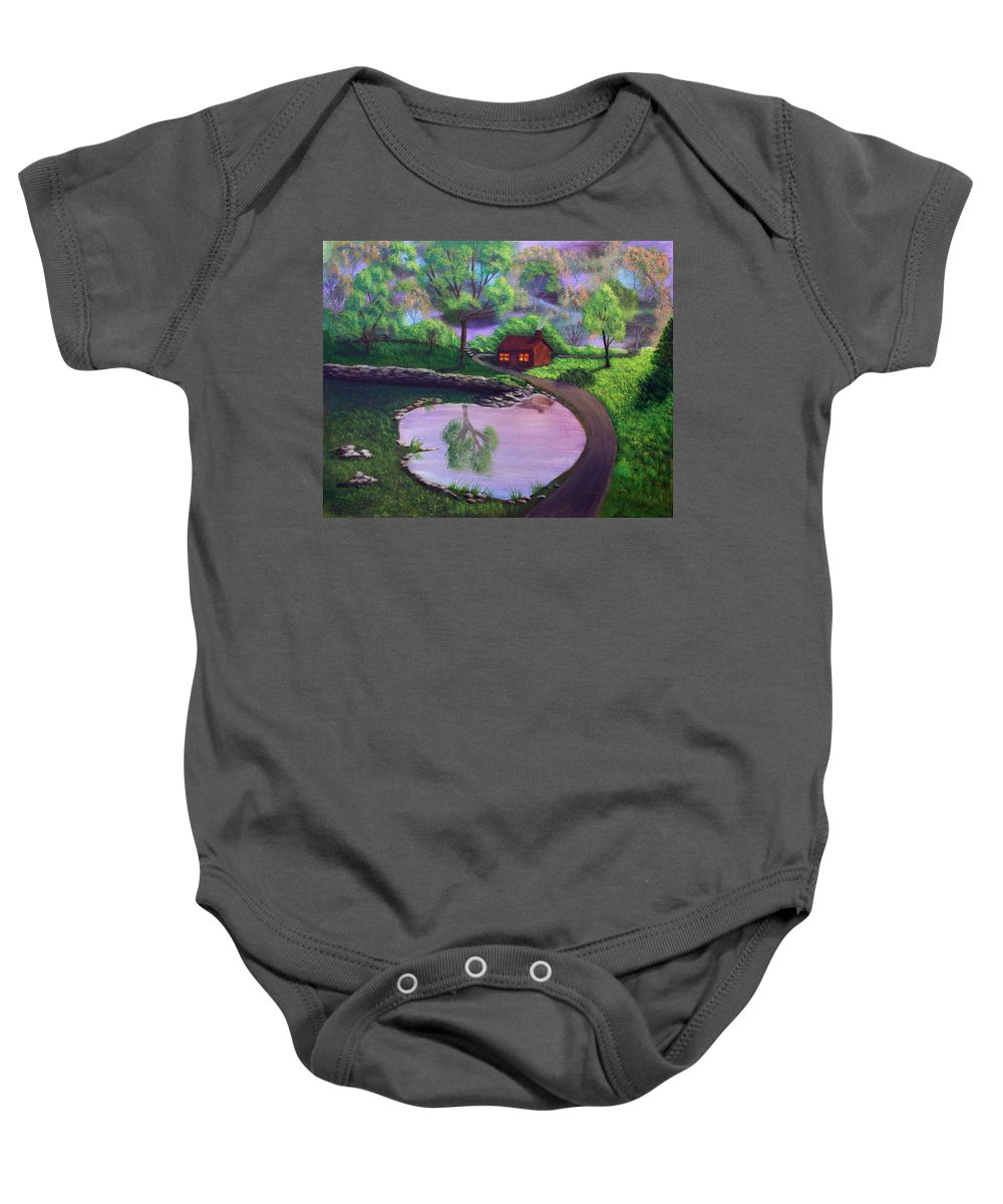 Light Baby Onesie featuring the painting Good Spring Morning by Dawn Blair