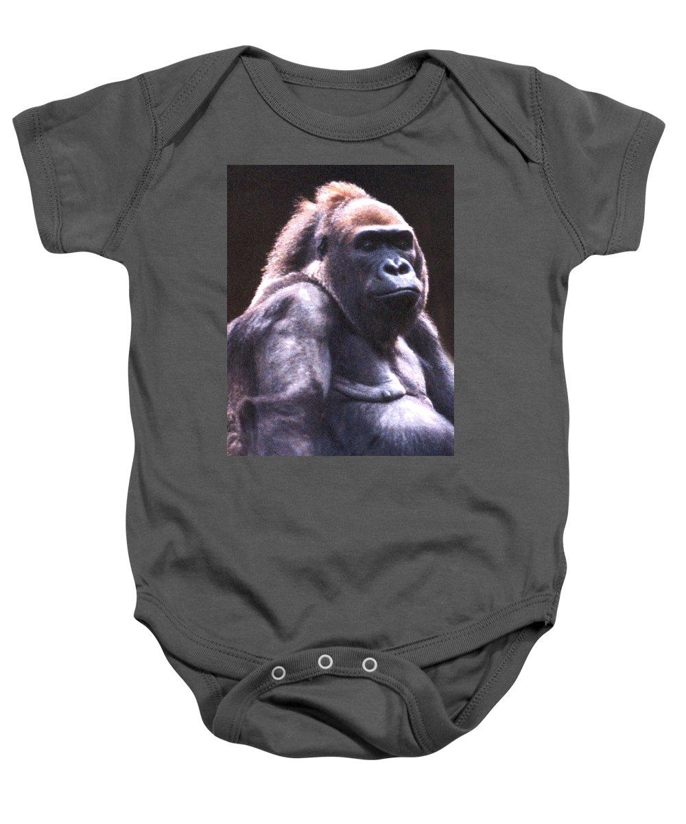 Gorilla Baby Onesie featuring the photograph Gorilla by Steve Karol