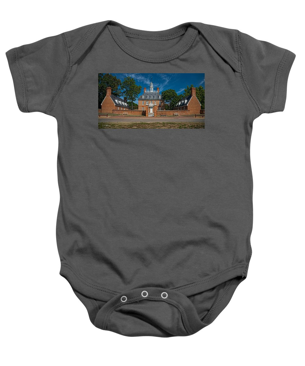 Virginia Baby Onesie featuring the photograph Governor's Palace by Christopher Holmes