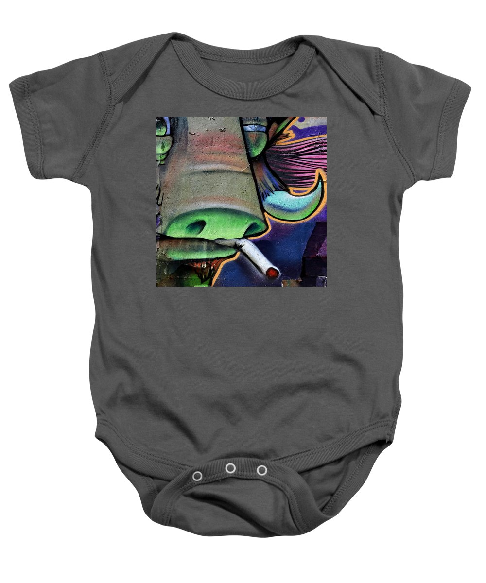 Graffiti Baby Onesie featuring the photograph Graffiti 25 by Andrew Fare
