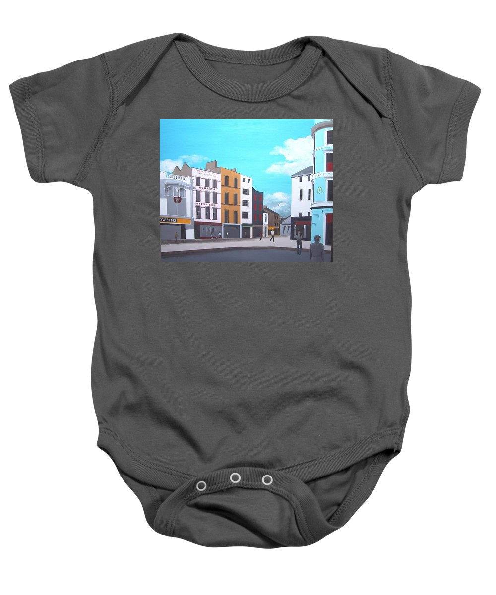 Grand Parade Baby Onesie featuring the painting Grand Parade, Cork by Tony Gunning