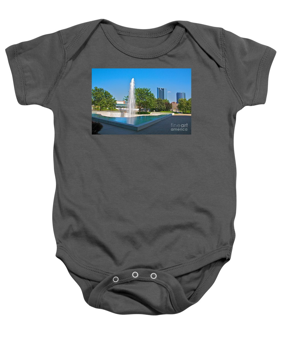 City Baby Onesie featuring the photograph Grand Rapids Mi-7 by Robert Pearson