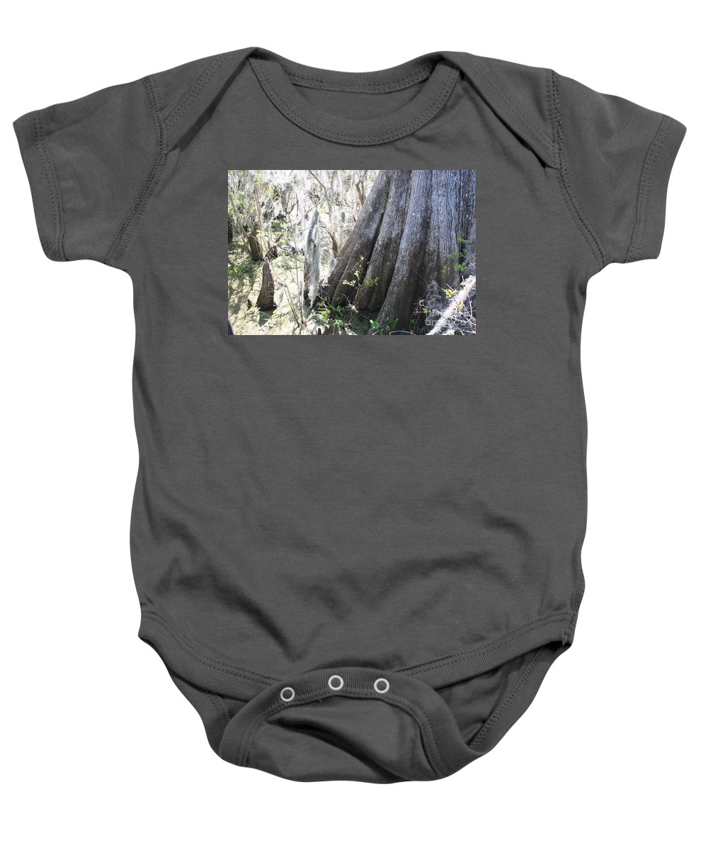Old Cypress Baby Onesie featuring the photograph Grandfather Cypress by Carol Groenen