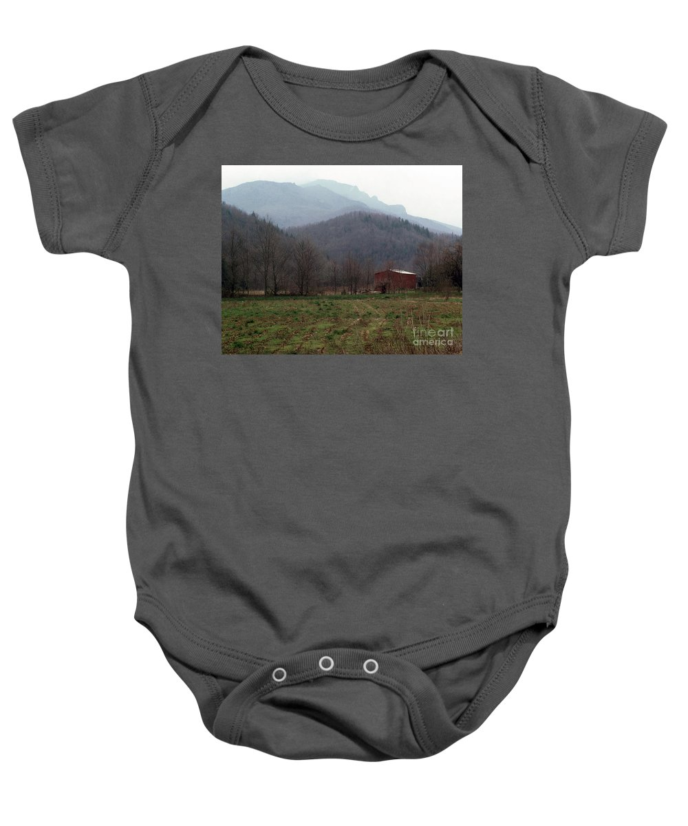 North Carolina Baby Onesie featuring the photograph Grandfather Mountain by Richard Rizzo