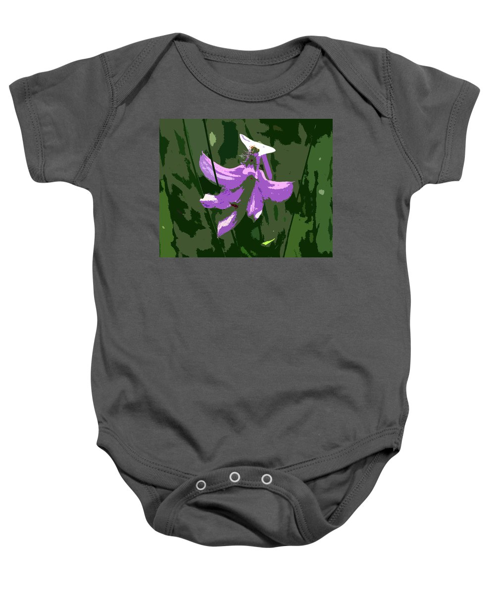 Pink Baby Onesie featuring the photograph Grasspink by Peg Urban