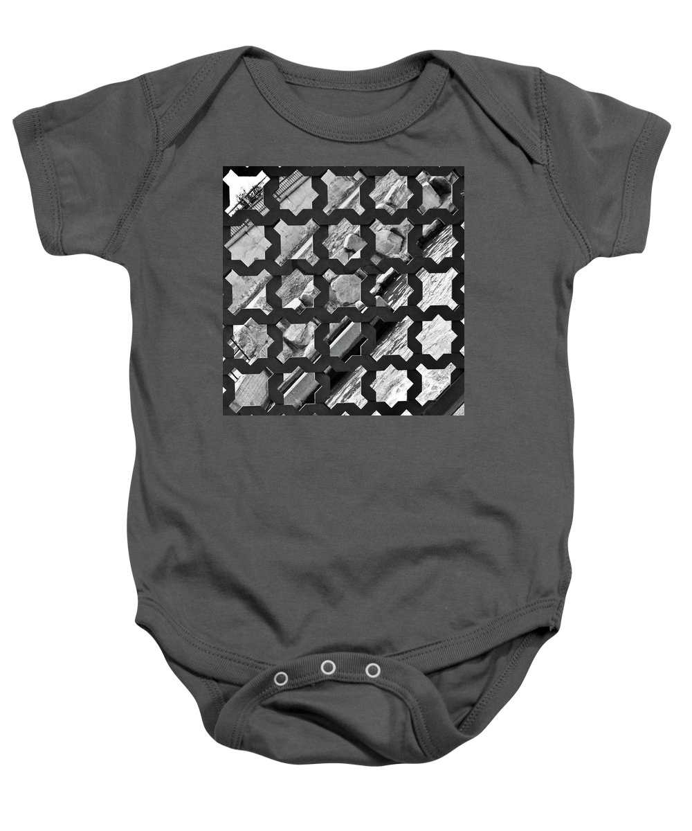 River Walk Baby Onesie featuring the photograph Grated River Walk by Angus Hooper Iii