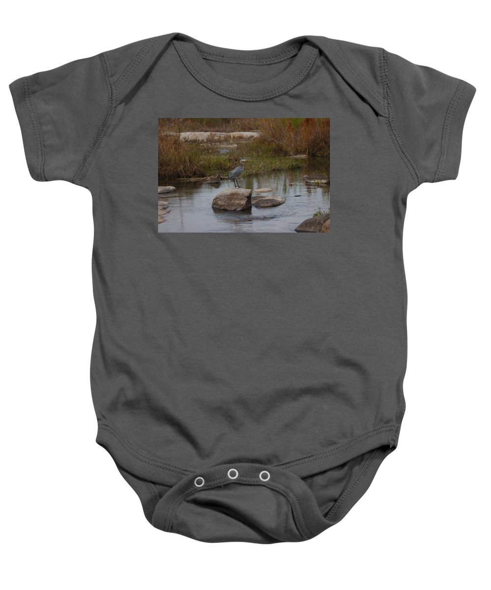 Heron Baby Onesie featuring the photograph Great Blue Heron by James Smullins