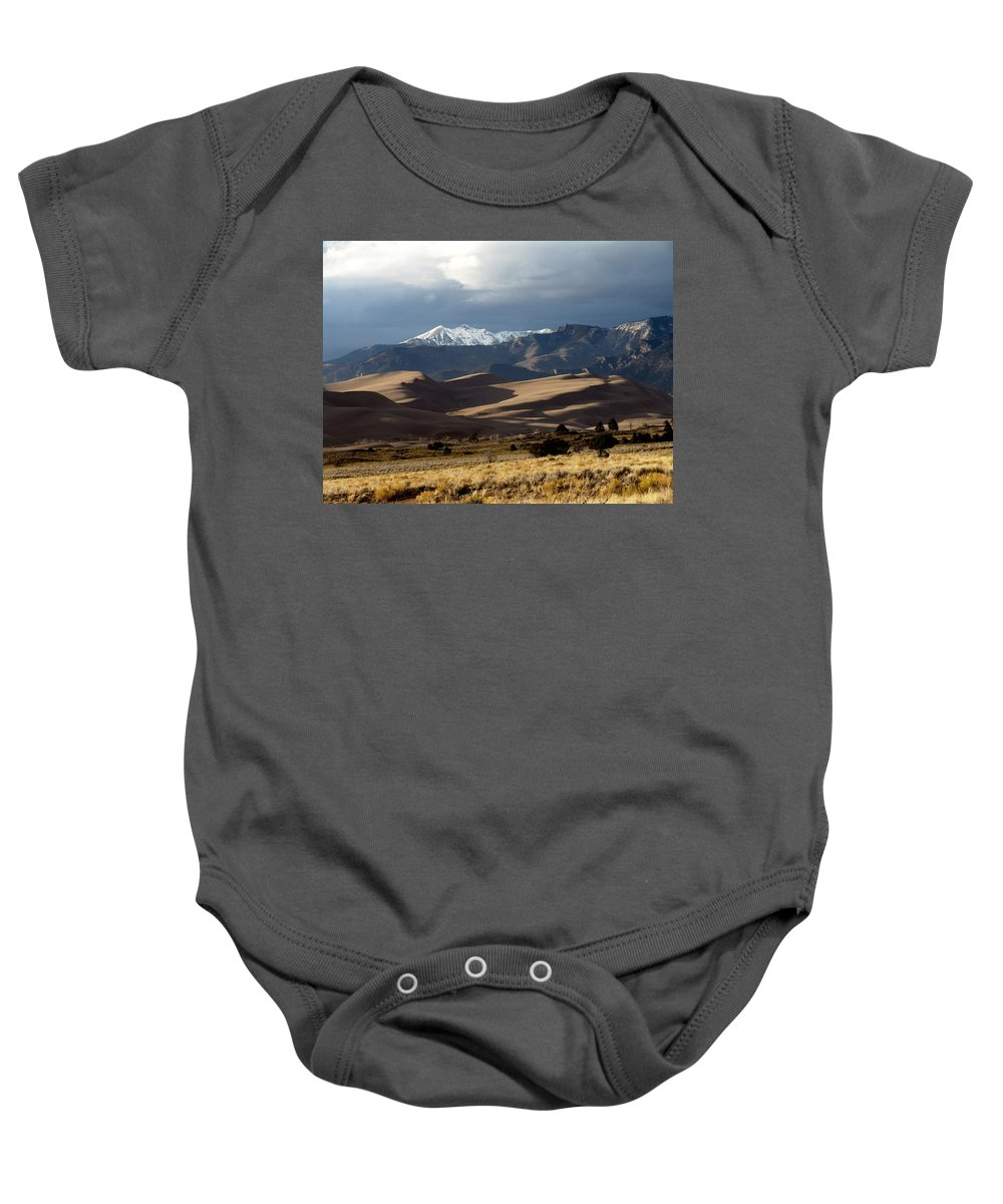 Sand Baby Onesie featuring the photograph Great Sand Dunes National Park by Carol Milisen