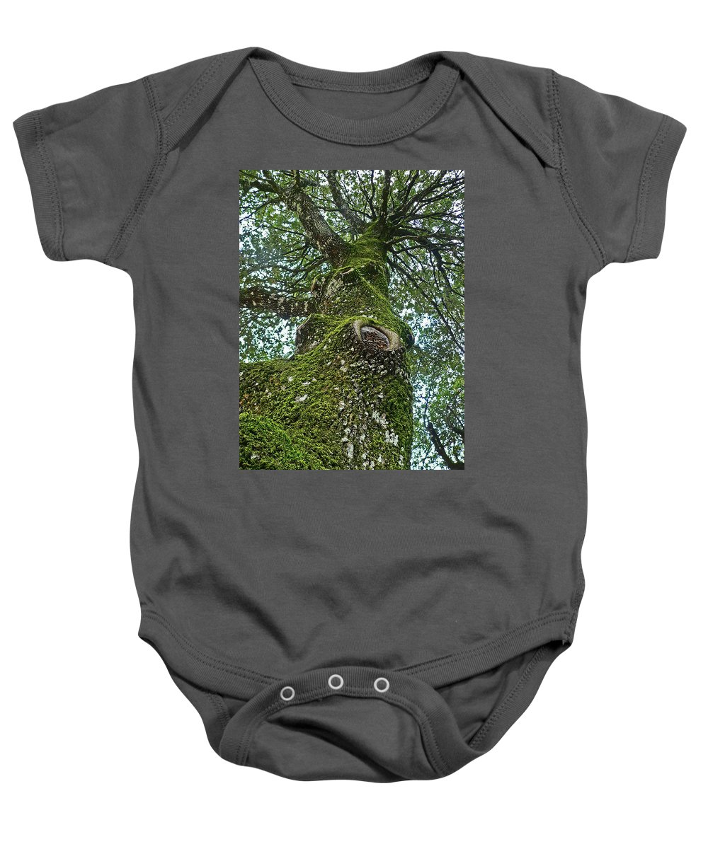 Baby Onesie featuring the photograph Green Arms by Angela Wright