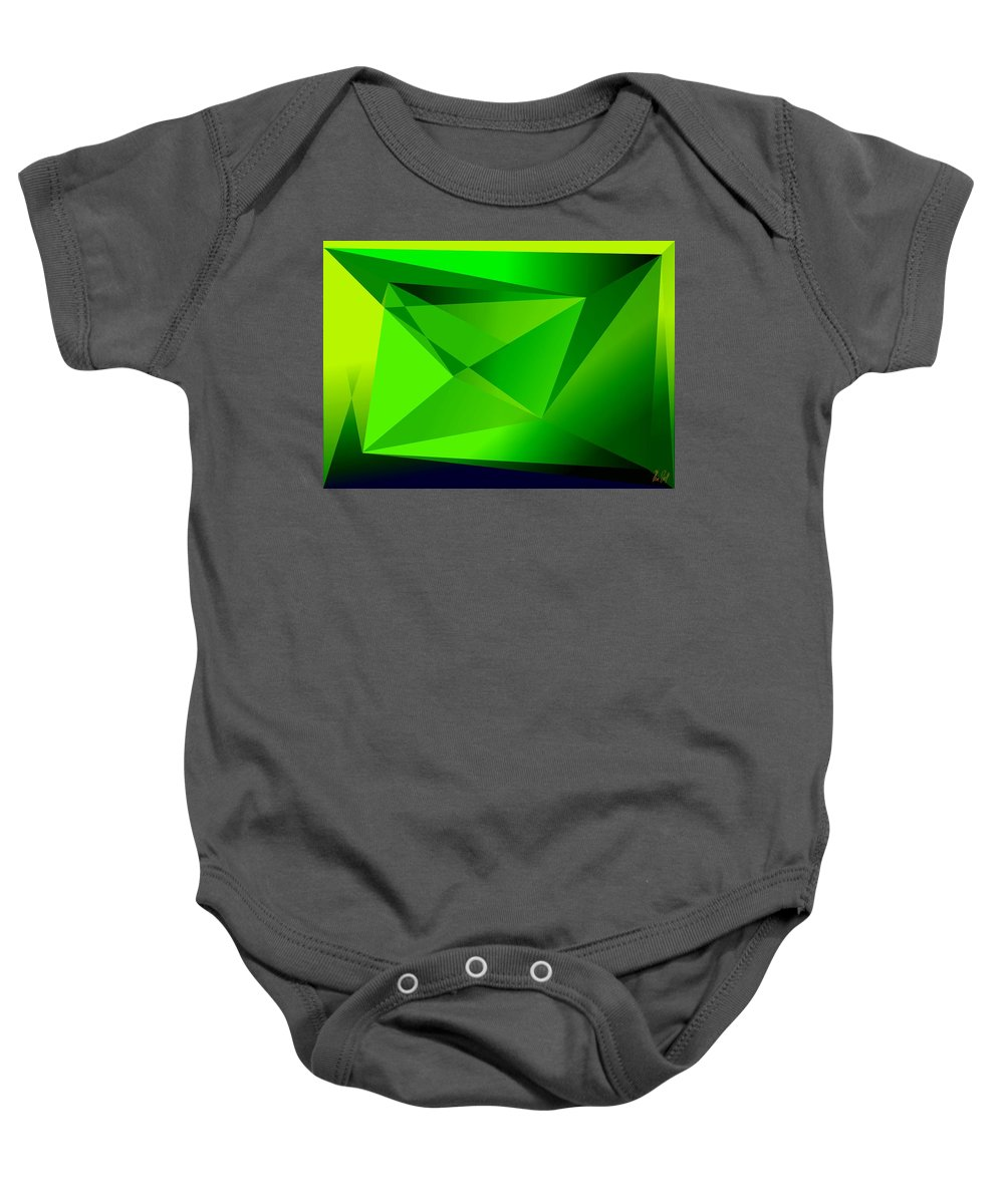 Pyramiden Baby Onesie featuring the digital art Green by Helmut Rottler