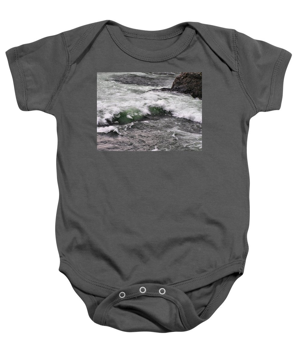 River Baby Onesie featuring the photograph Green Jello by Susan Kinney