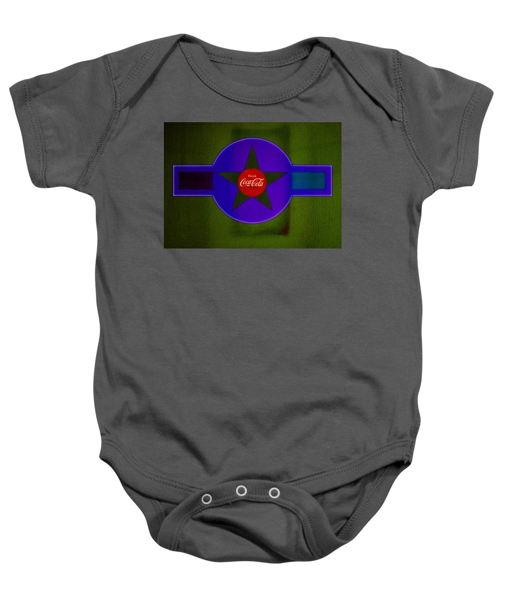 Label Baby Onesie featuring the painting Green Landscape by Charles Stuart