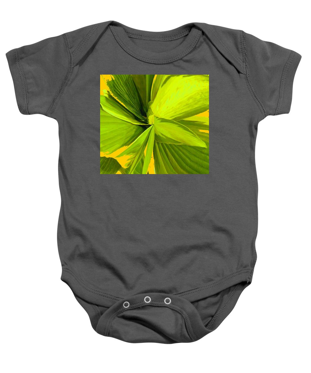 Plant Baby Onesie featuring the photograph Green Mosaic by Ian MacDonald