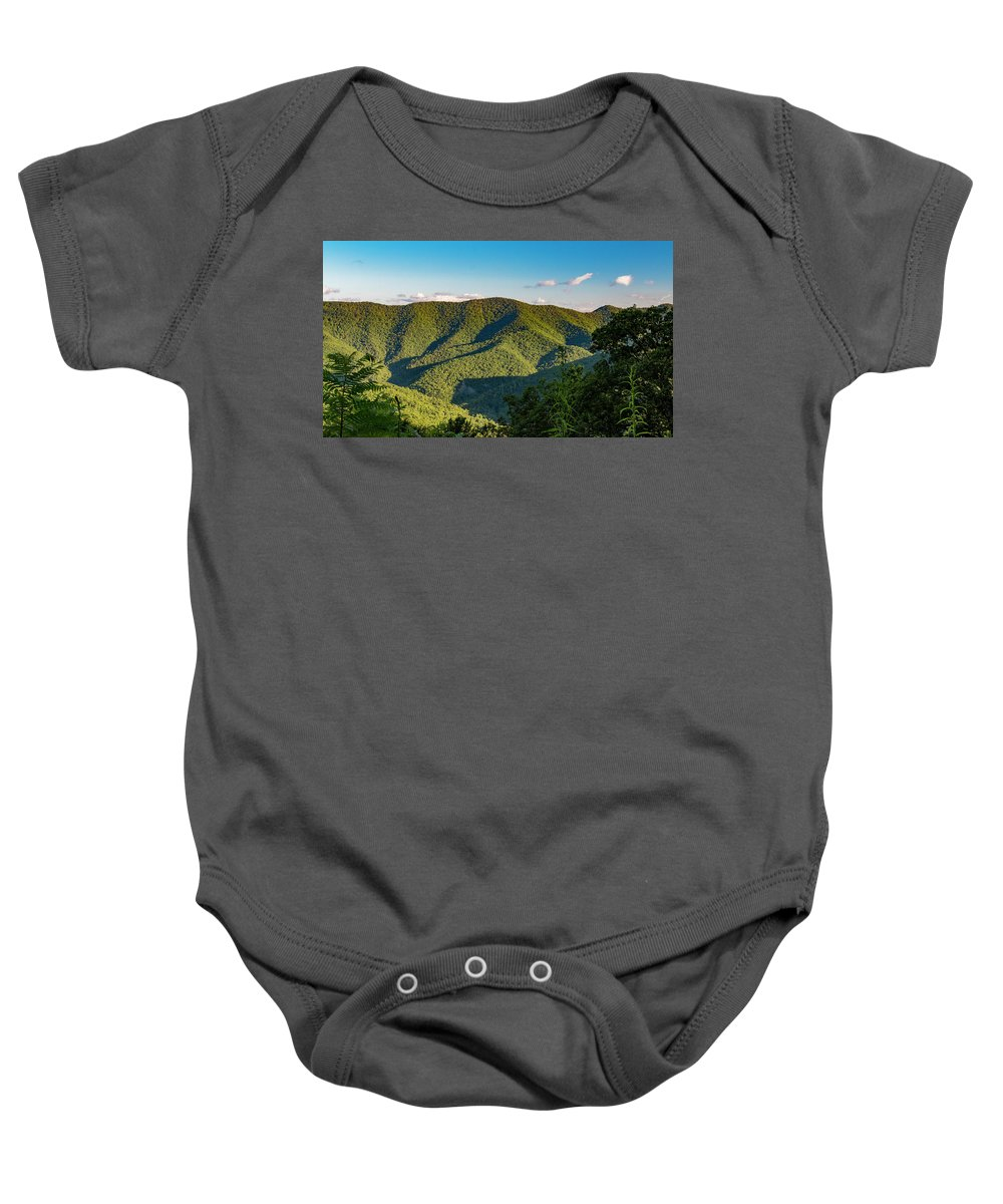 Landscape Baby Onesie featuring the photograph Green Mountainside by Shanna Robillard