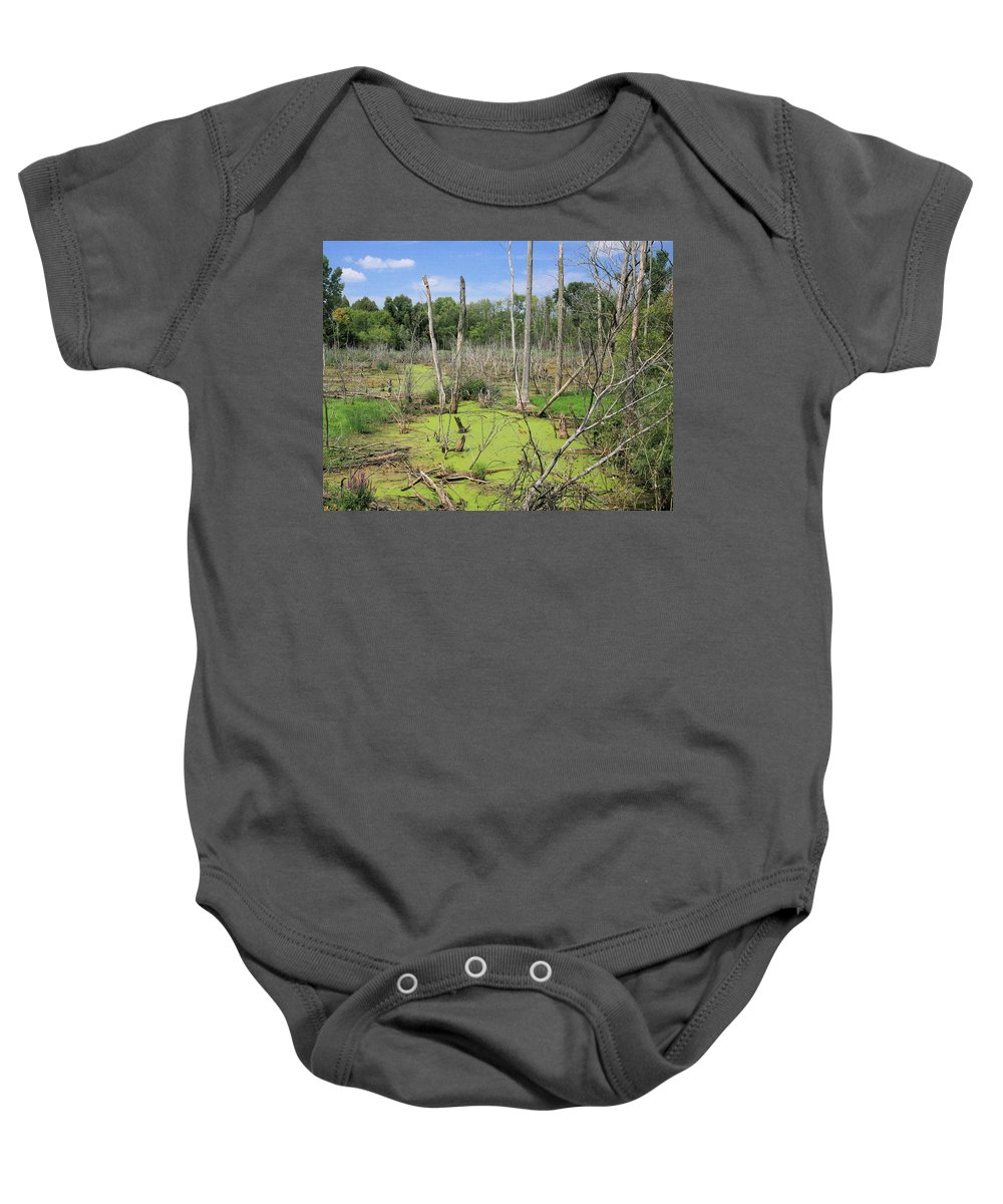 Landscape Baby Onesie featuring the photograph Green Pea Soup by Robert Pearson